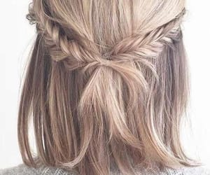braid, fishtail, and hair image
