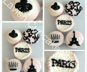 crown, damask, and eiffeltower image