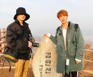 jin, bts, and twitter image