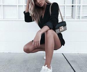 dress, fashion, and purse image