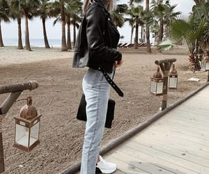 fashion, jacket, and handbag image