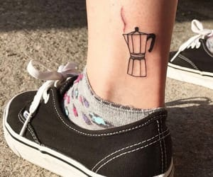 coffee, tattoo, and vans image
