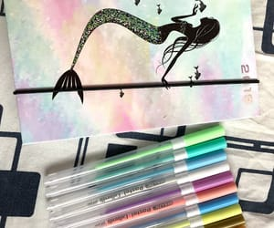 cool, mermaid, and notebook image