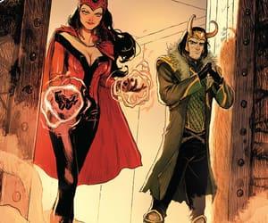 Marvel, loki, and scarlet witch image