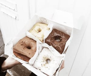 delicious, dessert, and donuts image