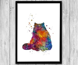 art print, mothers day, and cat lover image
