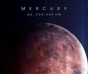 mercury, space, and universe image