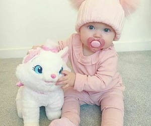 baby, pink, and cute image