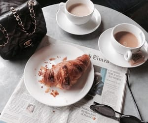 breakfast, coffee, and chanel image