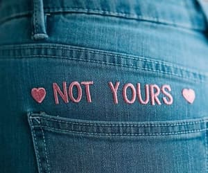 pink, quotes, and jeans image
