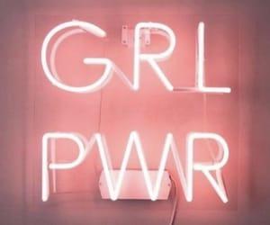 girl, light, and pink image