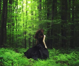 girl, forest, and fantasy image