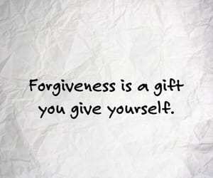 black and white, gift, and forgive image