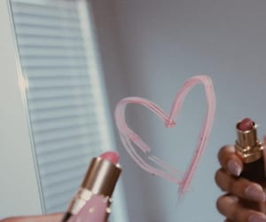 lipstick, mirror, and pink image