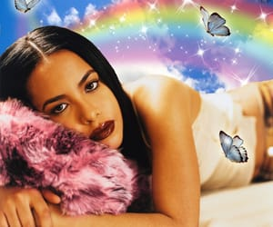 aaliyah, aesthetic, and butterfly image