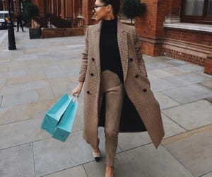 brown, fashion, and coat image