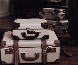 luggage, mirror, and travel image
