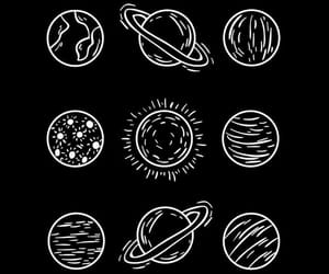 wallpaper, planets, and black image