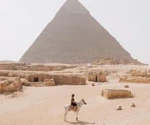 egypt, travel, and pyramid image