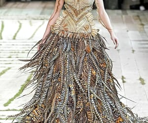 Alexander McQueen, brown, and gold image