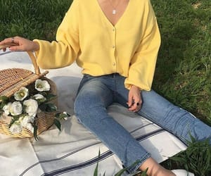 yellow, picnic, and aesthetic image