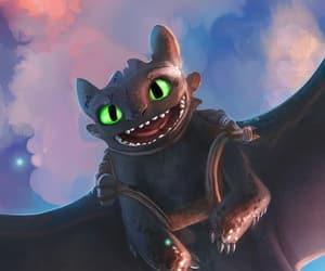 animation, dragon, and night fury image