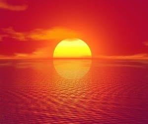 beach, beauty, and sunset image