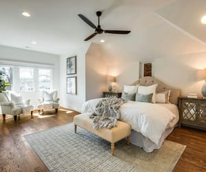 bedroom, big, and comfy image