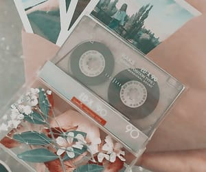 aesthetic, cassette, and flowers image