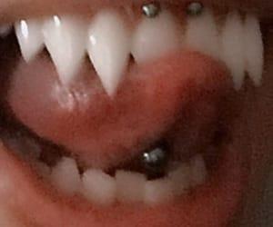 piercing, vampire, and teeth image