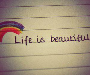 life, beautiful, and rainbow image