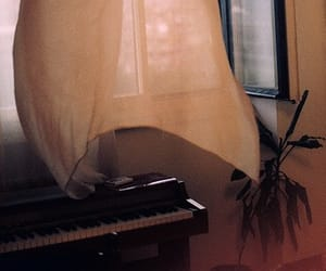 music, piano, and window image