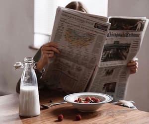 girl, breakfast, and food image