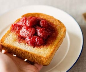 jam, strawberries, and tasty image