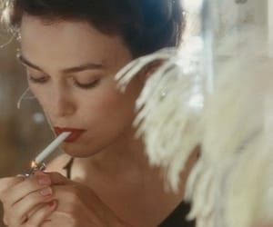 keira knightley, atonement, and cigarette image