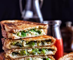 food, sandwich, and toastie image