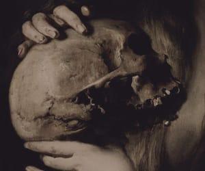 skull, art, and dark image
