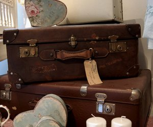light, romantic, and suitcase image