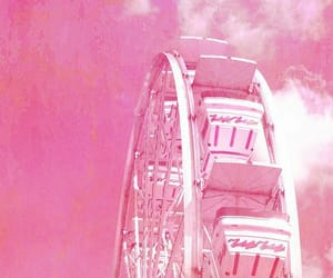 pink, ferris wheel, and photography image