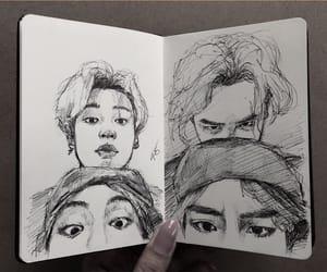 art, taehyung, and vmin image