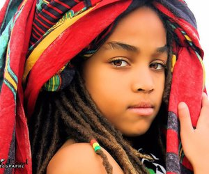 child and dreads image