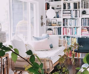 books, bookshelves, and cozy image