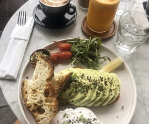 avocado, brunch, and coffee image