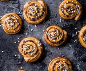 cinnamon roll, spice, and hot cross bun image