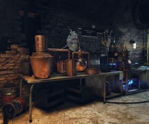 chemistry, dim light, and distillery image