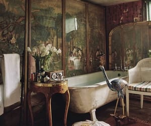 antiques, bathroom, and bathtub image