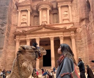 adventure, camel, and girl image