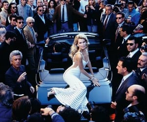model, car, and Claudia Schiffer image