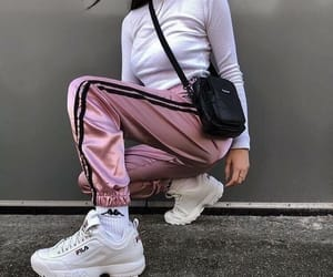 fashion, girl, and Fila image