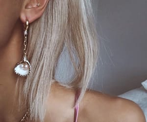 earrings, blonde, and girl image